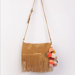 The Wolf Gang Suede Fringe Crossbody Bag